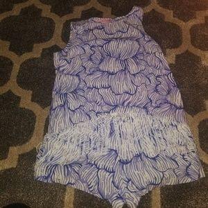 Lilly pulitzer sonya set size 4 fringe top& shorts